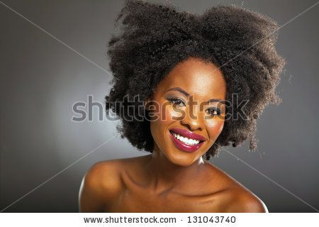 african american beauty over black background - stock photo