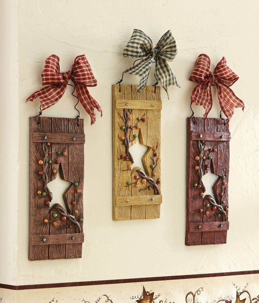 Amazon.com - Collections Etc - Primitive Country Star Hanging Wall ...