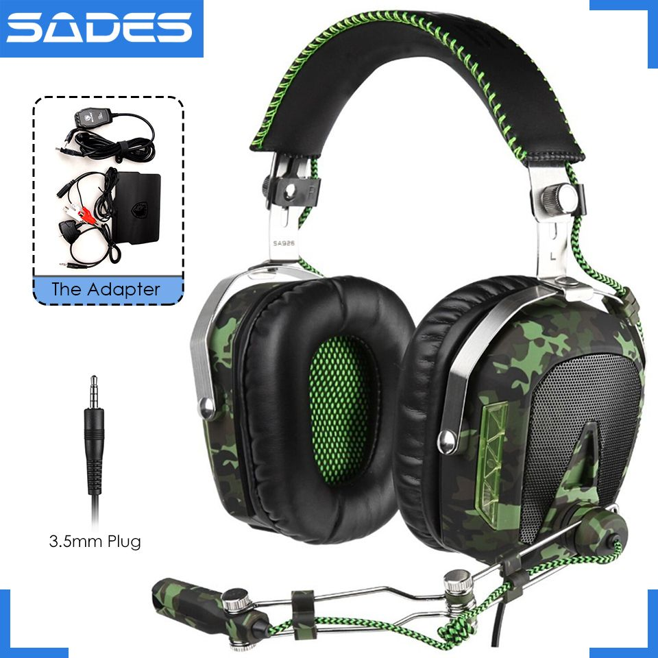 SADES SA926 3.5mm wired headset over-ear gaming headphones with ...
