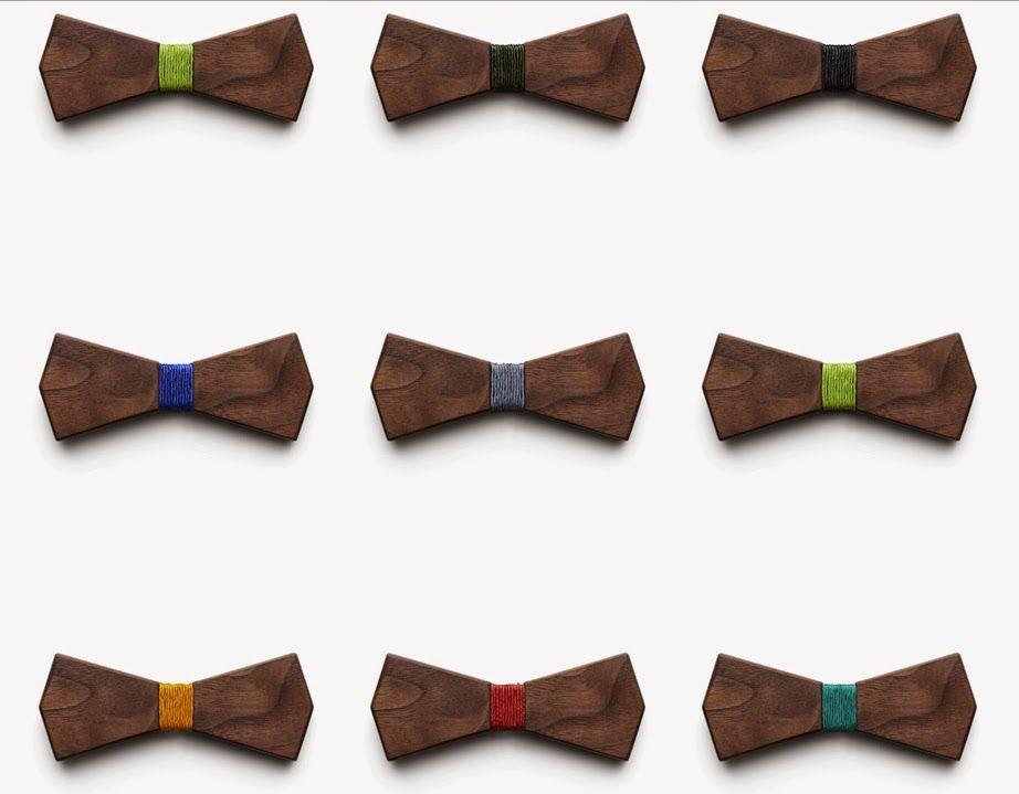 結婚式のメンズファッションに 木製の蝶ネクタイ Bo Wooden Bow Ties