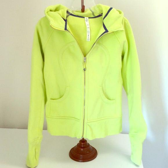 Lululemon sweat jacket❤️Make Offer Lime lululemon athletica Jackets & Coats