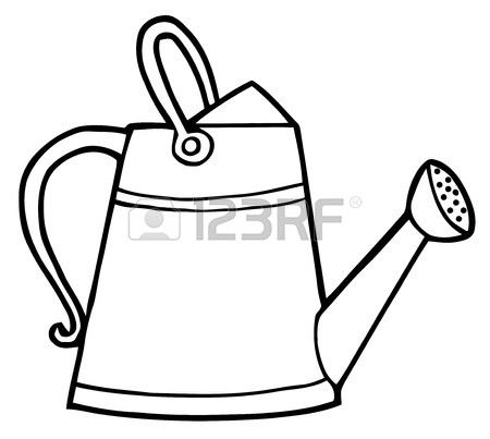 Stock Vector Watering Can Image Can Clipart Garden Tools