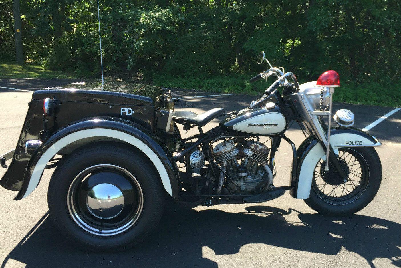 1963 Harley Davidson Police Trike Survivor Harley