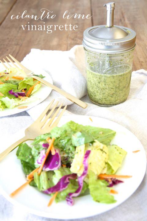 5 minute cilantro lime vinaigrette recipe | Mexican Salad Dressing