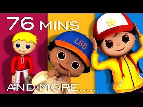 Head Shoulders Knees And Toes Plus Lots More Videos 76 Minutes Compilation From Littlebabybum Youtube Kids Songs Nursery Rhymes Cartoon Songs