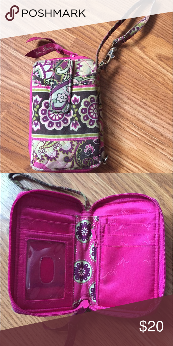 Very Bradley Wallet/Wristlet very bradley multicolored wallet/wristlet. a bit dirty but can be easily washed. Vera Bradley Bags Clutches & Wristlets