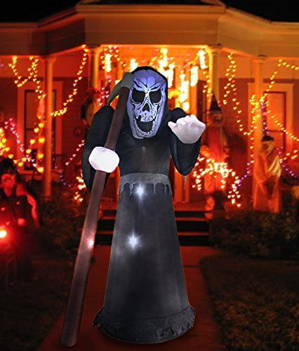 8 Ft Halloween Inflatable Decoration Terrible Reaper Ghost with 4 - inflatable halloween decoration