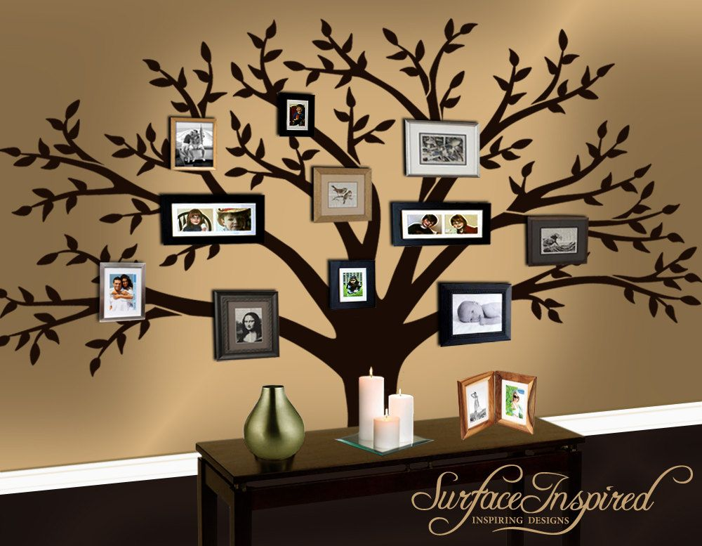 Family Vinyl Wall Decal Stickers Photos Big Tree Leaf Leaves Falling Frame  Room House Home Wall Sticker Art Murals Stickers Decal Part 33