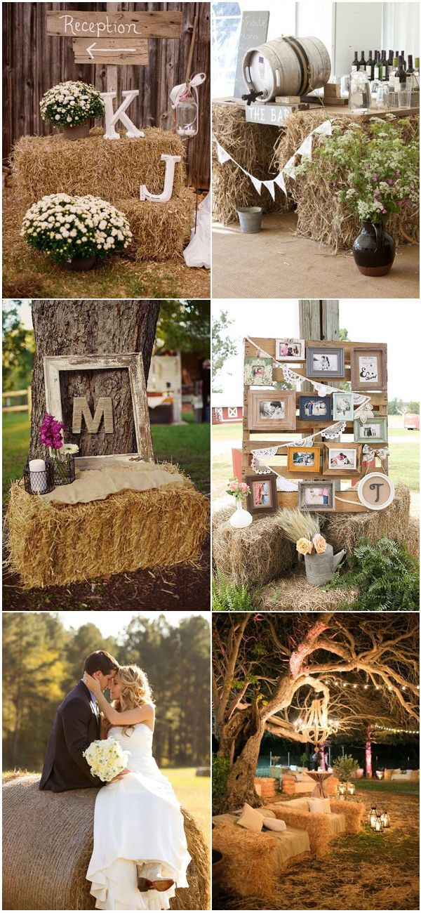 Simple Rustic Country Wedding Ideas Inspired By Hay Bales Weddingideas Rusticwedding Countrywedding