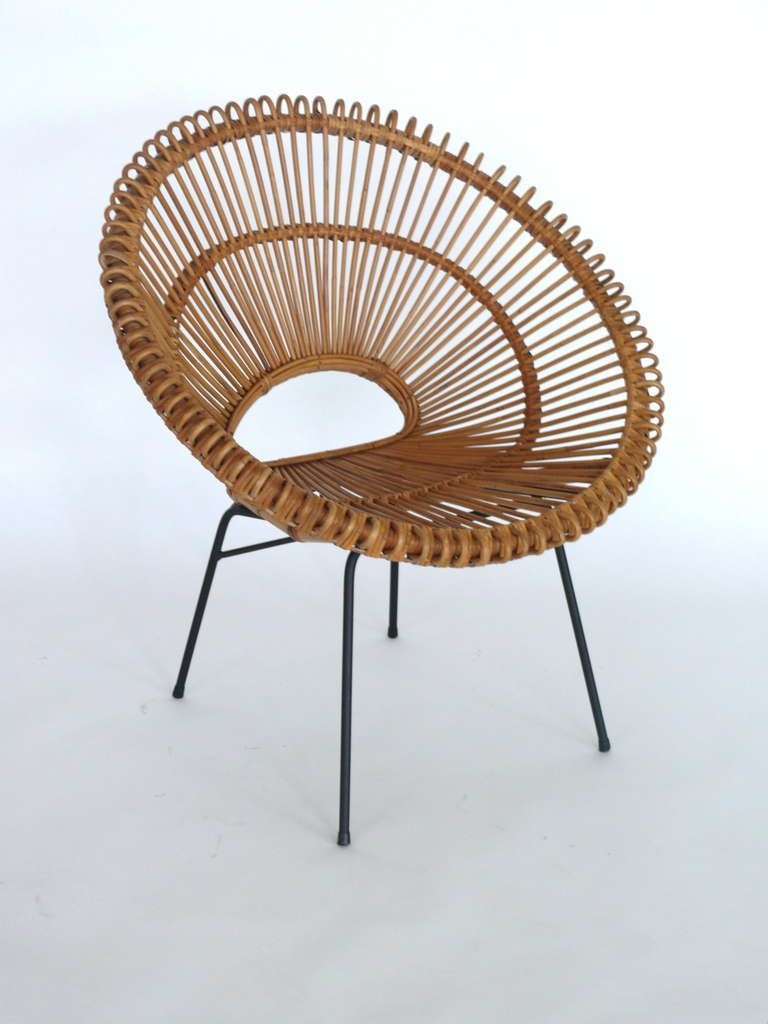 Rattansessel Klein Rattan Bucket Chairs In The Style Of Franco Albini Products