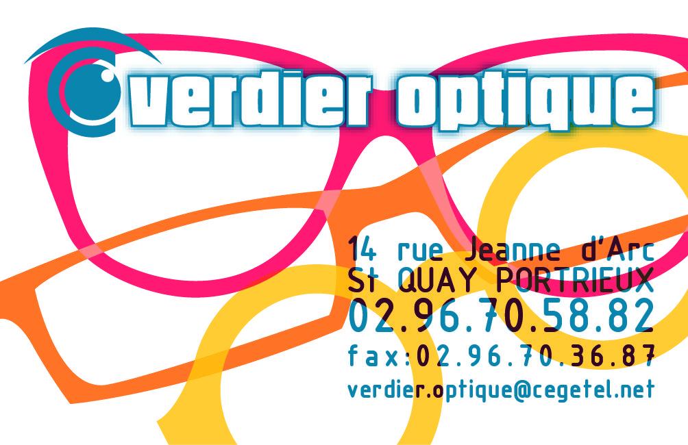 Carte De Visite Pour Lopticien Verdier Optique Saint Quay Portrieux 22