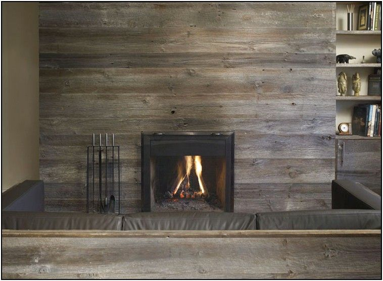 Gallery For > Reclaimed Wood Fireplace Surround | Home Decor and ...