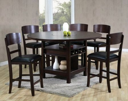 Espresso Dining Set Conner Five Piece Counter Height Dinette