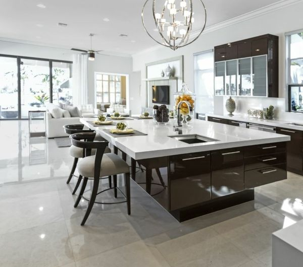 Les plus belles cuisines qui vont vous inspirer pinterest belle cuisine cuisine moderne et for La plus belle cuisine moderne