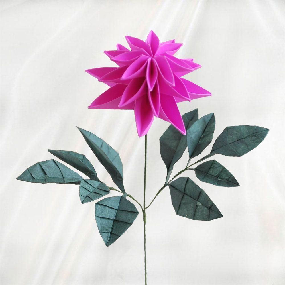 Origami dahlia flower origami3 pinterest dahlia flower origami dahlia flower mightylinksfo