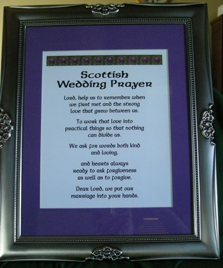 Celtic Wedding Vows: Scottish Wedding Prayer