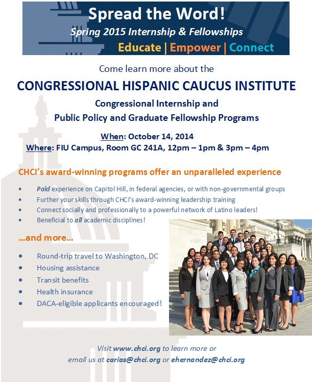 Congressional Hispanic Caucus Institute Info Session Tues 10 14