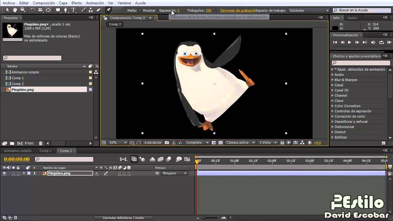 After Effects Animar Una Imagen Tipo1 Herramienta De Ubicación De Pos Pandora Screenshot