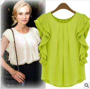 New Arrival 2014 European Plus Size Fashion Casual Green White Women's  Clothing…
