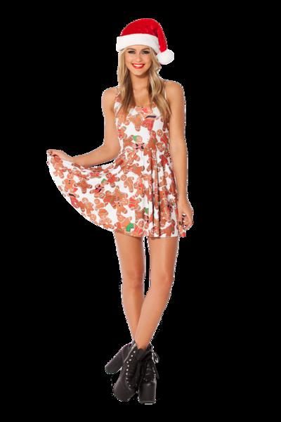 Ginger Bread Reversible Skater Dress › Black Milk Clothing