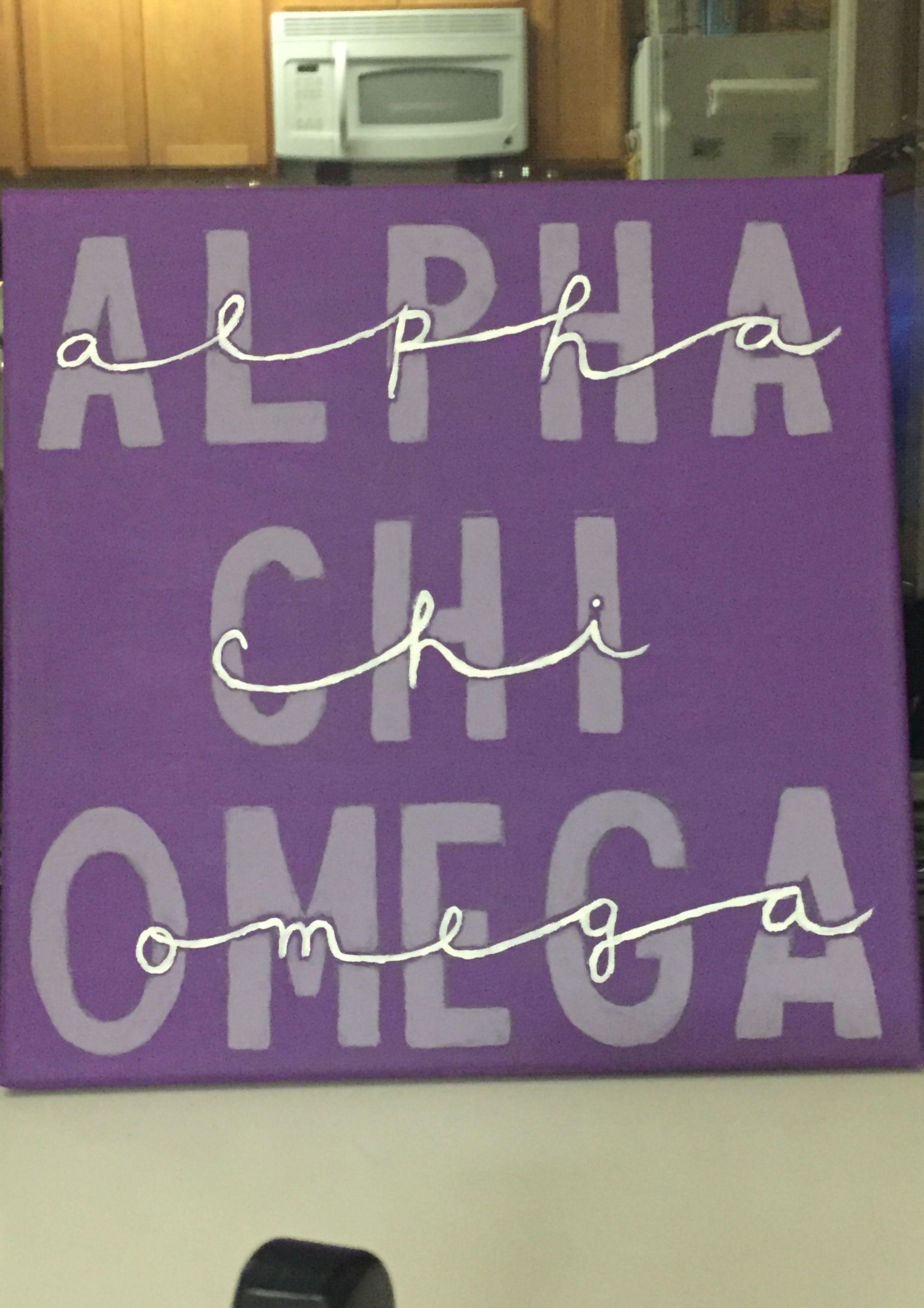 Alpha chi omega canvas big little crafting paint | ΑΧΩ life | Pinterest