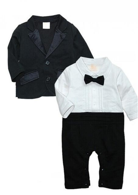 b1c6db7cfd3b Baby s Sets Toddler Rompers + Jacket Cotton Full Prince Costume Bow  Tiedresskily in 2019