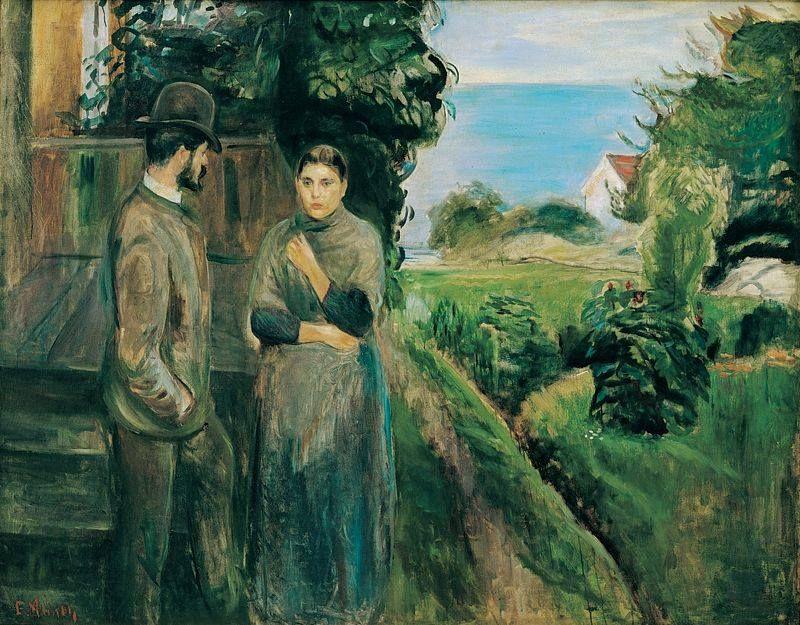 Edvard Munch - Evening Talk, 1889