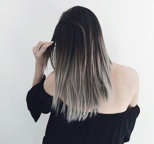 Dark hair don't care! Black & gray ombre