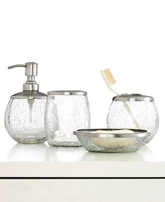 Swell Crackle Glass Unique Bathroom Decor Bathroom Accessories Interior Design Ideas Gentotryabchikinfo