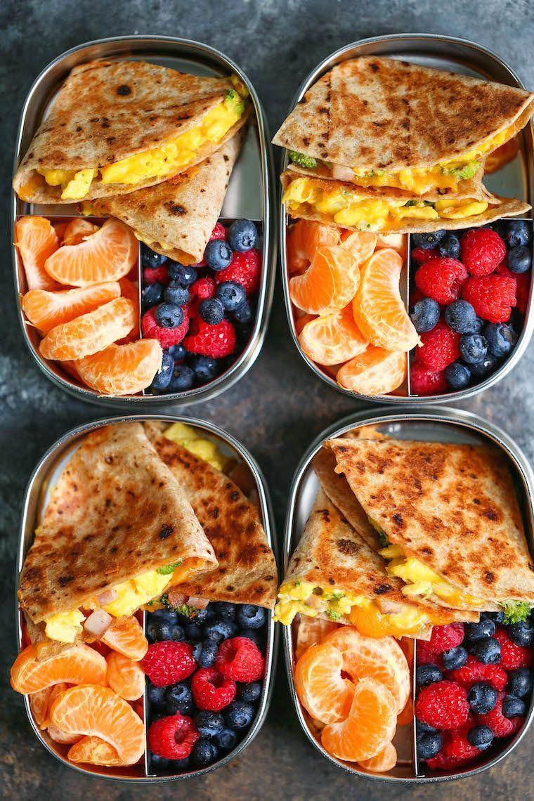 Ham, Egg & Cheese Breakfast Quesadillas Recipe - Damn Delicious