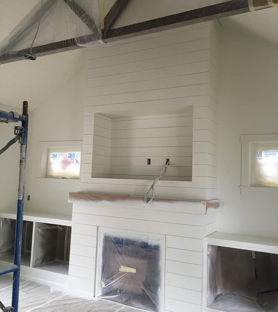 Cut out | Building a House | Pinterest | Shiplap fireplace ...