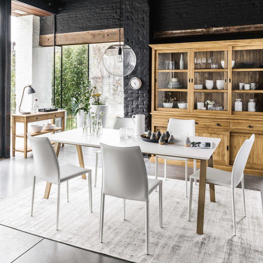 Esstisch Le Design ausziehbarer esstisch 8 bis 12 personen weiße b 200 245 cm persona