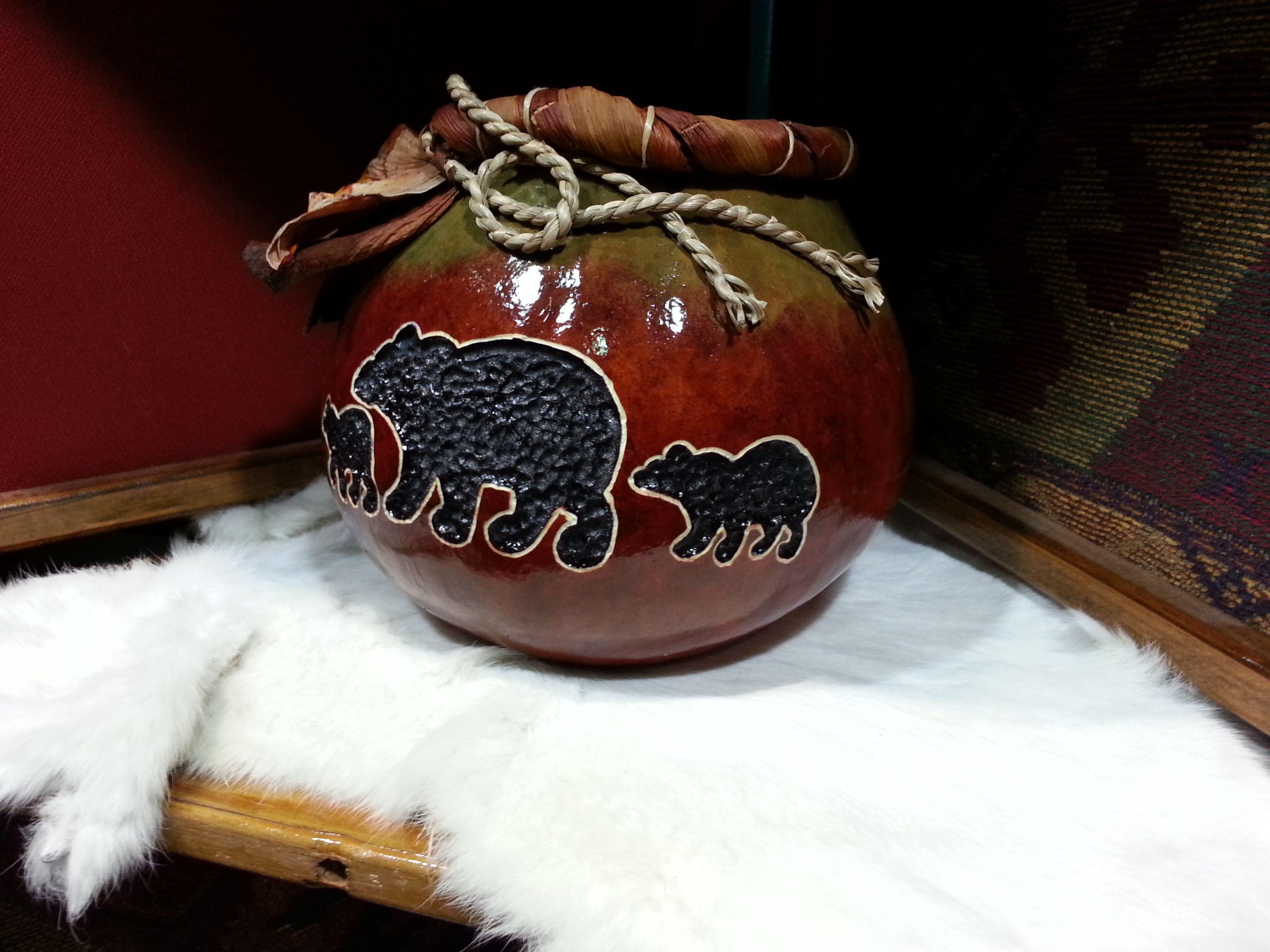 Bear Ghord Crafts Crafts Crafts Gourd Art Gourds