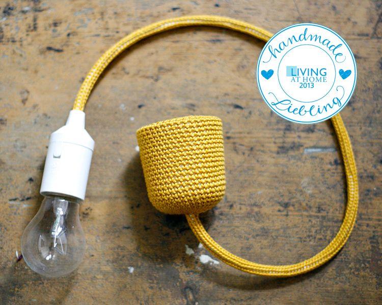 Hängelampen Senfgelbe Lampenfassung mit Kabel ein