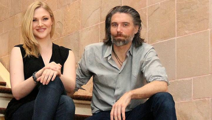 American actors Steffanie Leigh (left) and Anson Mount ...