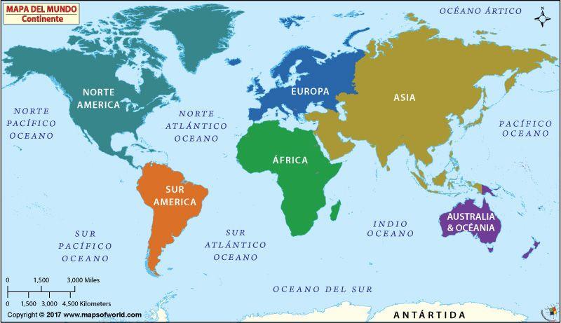 Dibujo Mapa Del Mundo Continentes.Continentes Del Mundo Mundial Continentes Continentes