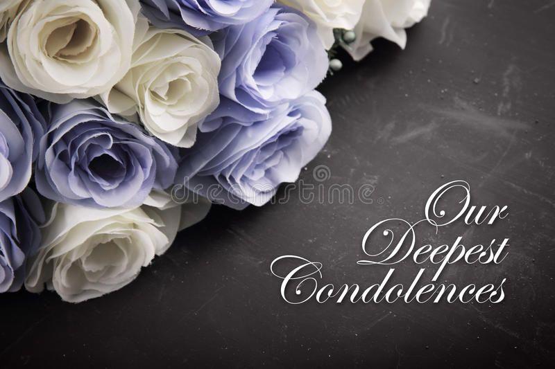 Our Deepest Condolences A Sympathetic Condolence Card Design For Someone Mourni Sponsor Condolence Messages Condolences Messages For Loss Sympathy Messages