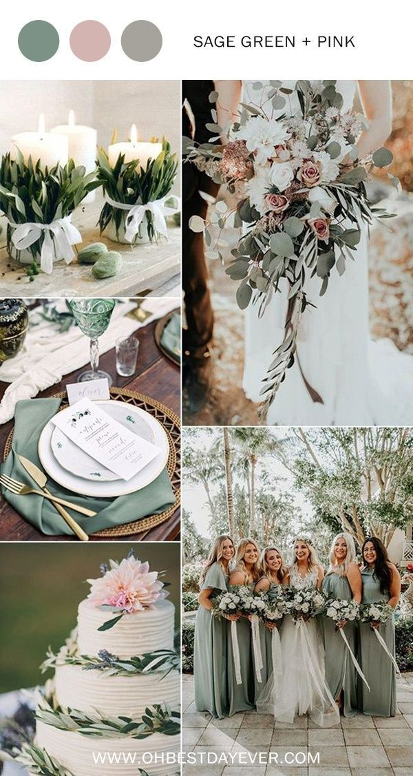 sage green and pink wedding color ideas for spring 2019 Wedding 10 Perfect Shades of Green Wedding Color Ideas for Spring/Summer 2019