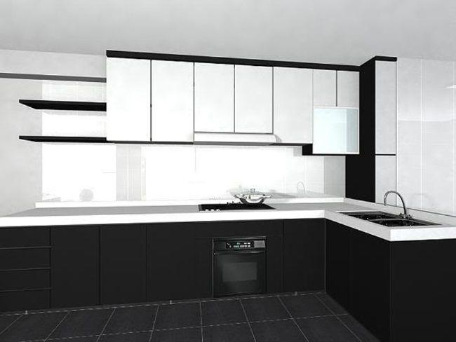 Black And White Kitchen Cabinets White Kitchen Design Black