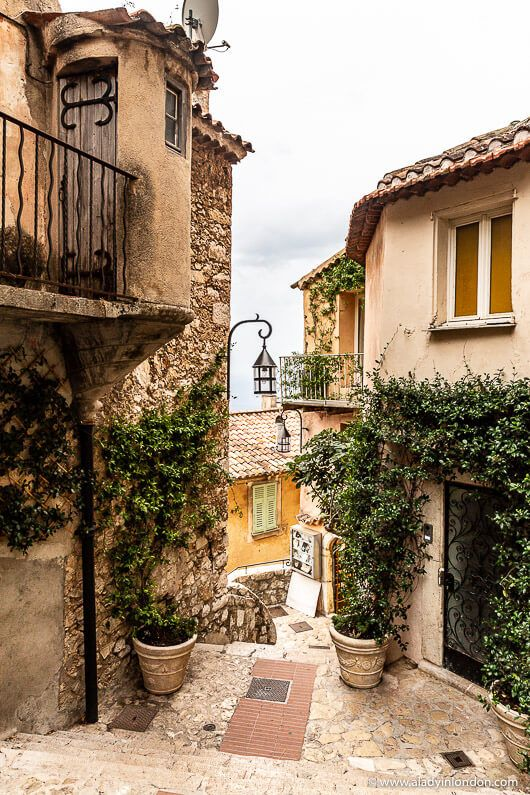 Houses in Eze, France. This is one of the best villages in Provence. Click through for more pictures on the A Lady in London blog. #provence #france #eze #village