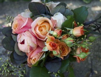 Bridesmaid's bouquet for country garden wedding