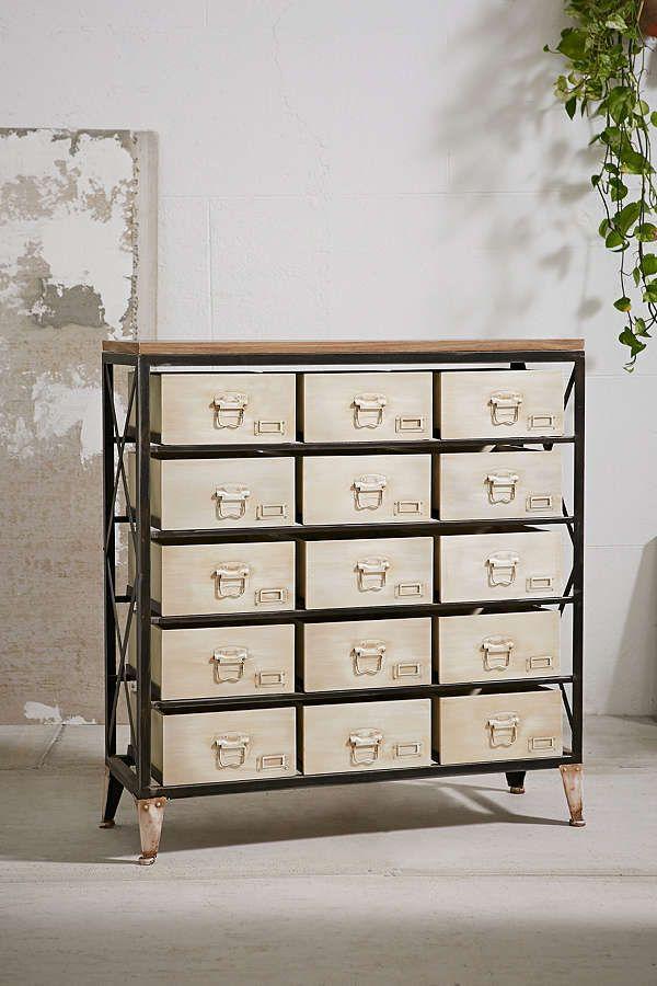 Industrial Storage Dresser Industrial Storage Vintage Industrial Decor Industrial Storage Cabinets