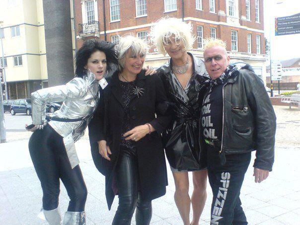 Wild Mutation - Jenny Drag, Shanne Bradley from the Nips, cross-dressing cock-tease Sharron Slutt and a rather knackered looking Spizz.