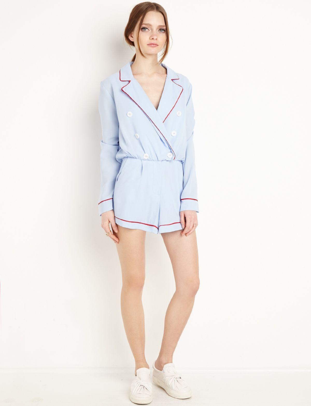 Long Sleeve Romper #fashion #pixiemarket