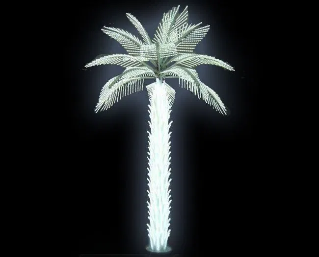 Led Palm Trees Yandecor In 2020 Palm Trees Led Tree White Lead