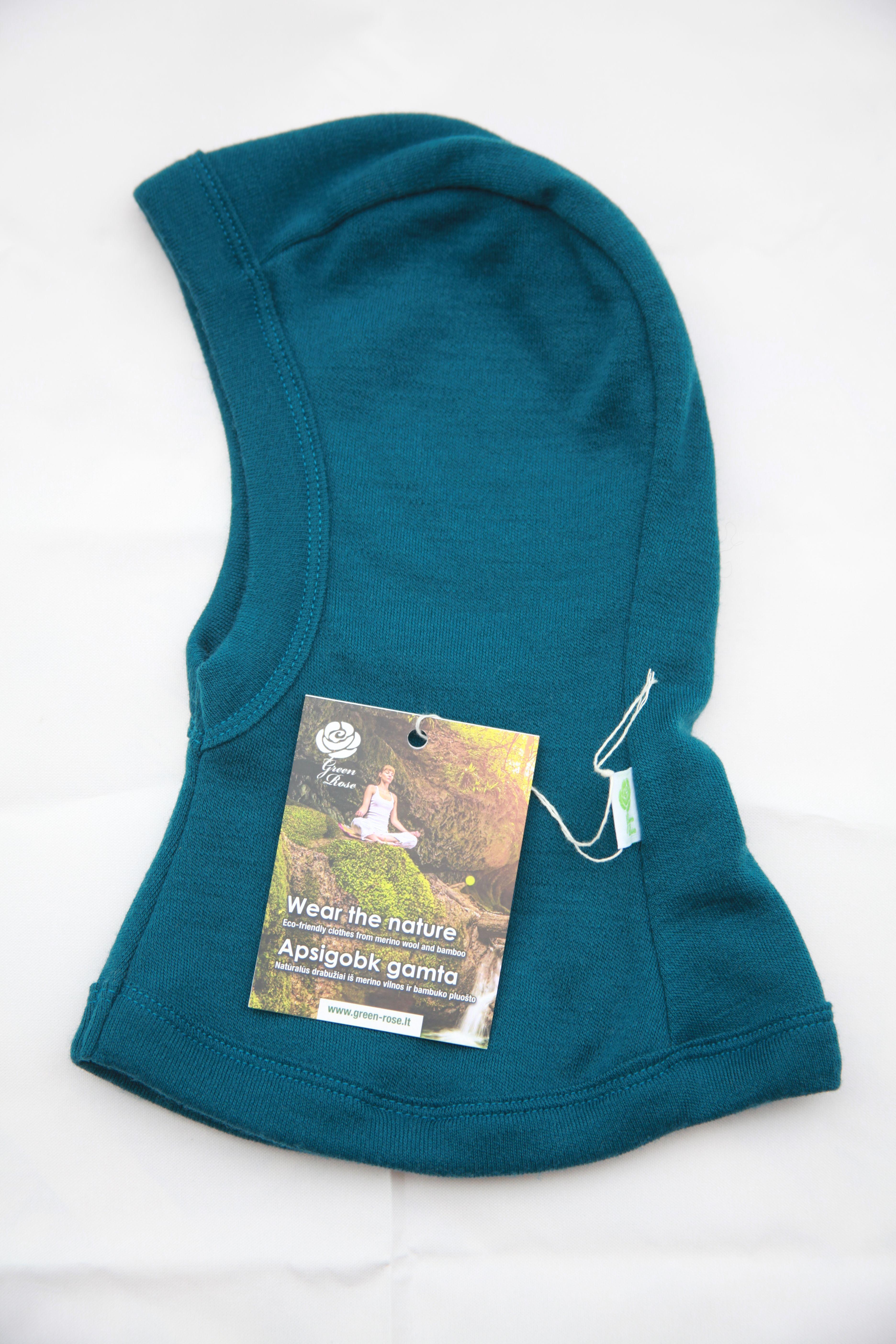 38 cm GREEN ROSE Baby Balaclavas for Girl Boy Unisex Winter Hat with Neck Warmer 100/% Merino Wool 0-6 Months, White 1