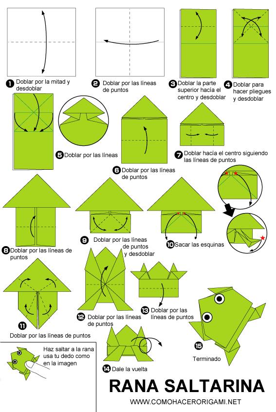 Rana Saltarina De Papel Comohacerorigami Net Origami Facil Para Ninos Origami Para Principiantes Origami Paso A Paso