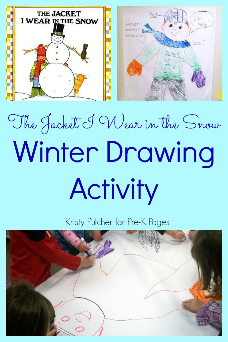 The Jacket I Wear in the Snow Winter Drawing Activity