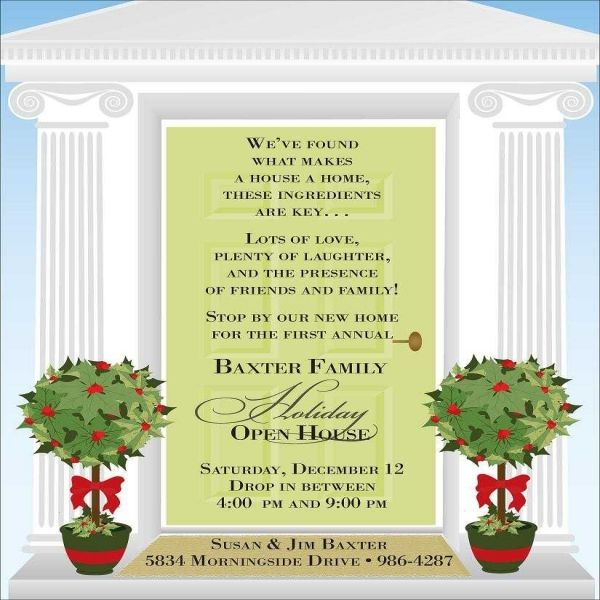 Ordinary Open House Christmas Party Ideas Part - 12: Christmas Open House Invitations - Christmas Open House Invitations For  Special Events