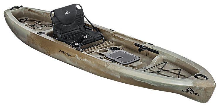 Ascend fs12t sit on top angler kayak desert storm bass for Bass fishing kayak
